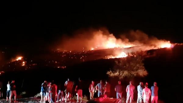 Место пада непознате летелице на Северном Кипру - Sputnik Србија