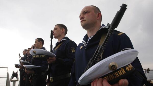 Odavanje pošte posadi podmornice P-1 Pravda - Sputnik Srbija