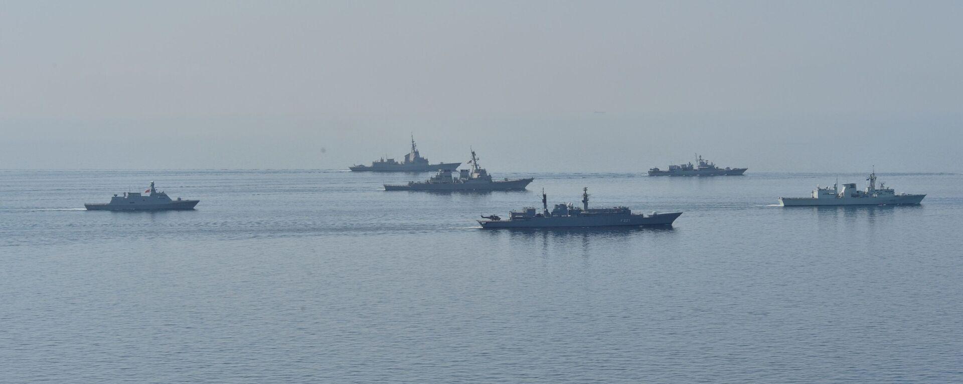 Војне вежбе Морски поветарац на Црном мору у којима учествују бродови Украјине, Грузије, Румуније, Турске, Летоније и САД - Sputnik Србија, 1920, 27.08.2021
