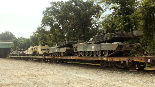 Američki tenkovi M1 Abrams koji će biti izloženi u okviru proslave Dana nezavistnosti SAD u Vašingtonu - Sputnik Srbija