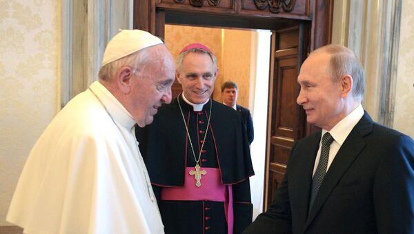 Владимир Путин у Ватикану - Sputnik Србија