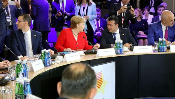 Ангела Меркел, Зоран Заев и Еди Рама - Sputnik Србија