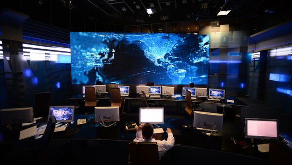 Studio prvog programa Vesti ruske državne televizije VGTRK - Sputnik Srbija
