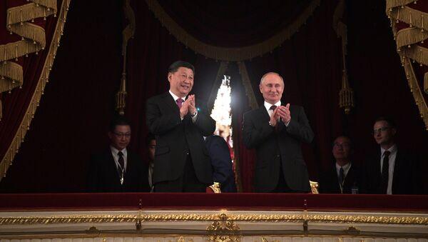 Predsednik Kine Si Đinping i predsednik Rusije Vladimir Putin  - Sputnik Srbija