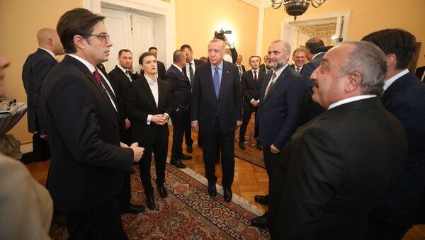 Turski predsednik Redžep Tajip Erdogan u Sarajevu sa premijerkom Srbije Anom Brnabić - Sputnik Srbija
