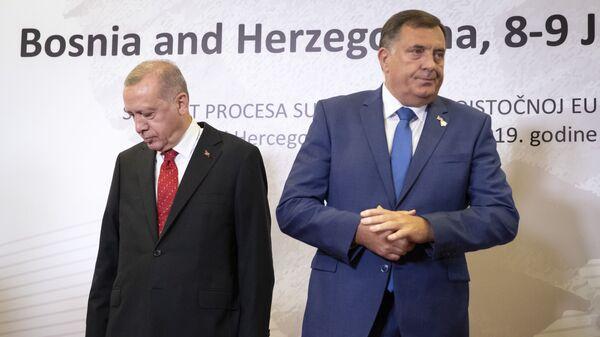 Реџеп Тајип Ердоган и Милорад Додик - Sputnik Србија