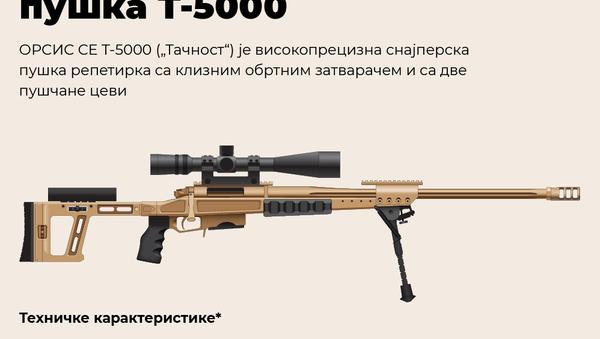 """Cнајперска пушка Т-5000 """"Тачност"""" - Sputnik Србија"""