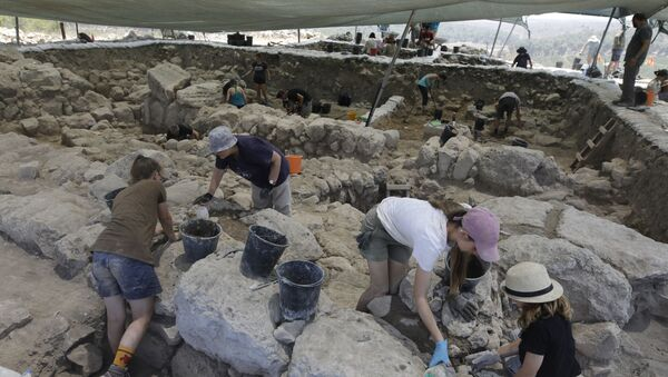 Arheolozi na iskopavanju drevnog biblijskog grada Ziklag u Izraelu - Sputnik Srbija