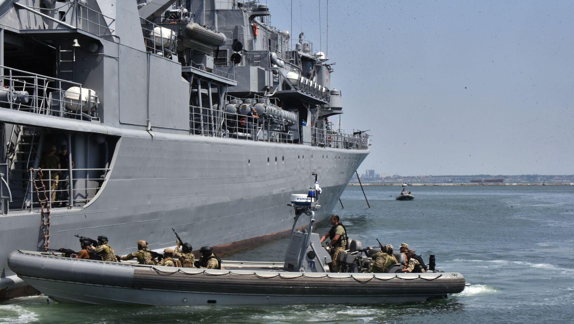 Američko-ukrajinske vojne vežbe Morski povetarac 2019 na Crnom moru - Sputnik Srbija, 1920, 01.02.2021