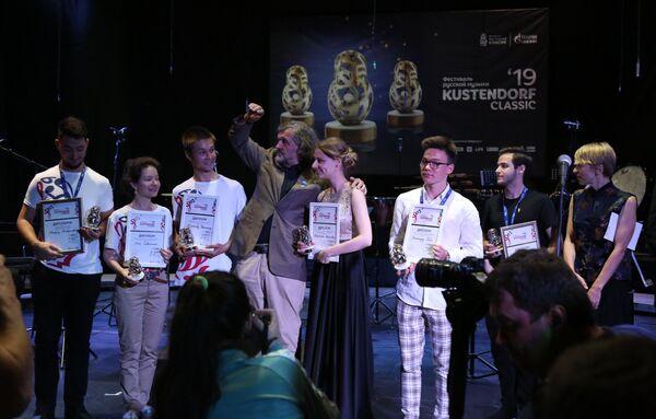 """Домаћин фестивала  """"Кустендорф класик"""" са награђеним такмичарима - Sputnik Србија"""