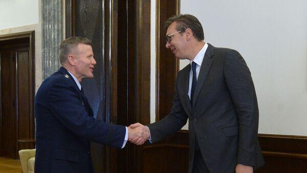 Tod Volters i Aleksandar Vučić - Sputnik Srbija