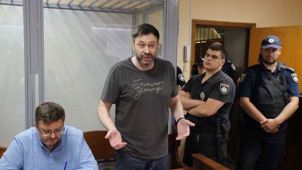 Уредник портала РИА Новости Украјина Кирил Вишински у суду у Кијеву - Sputnik Србија