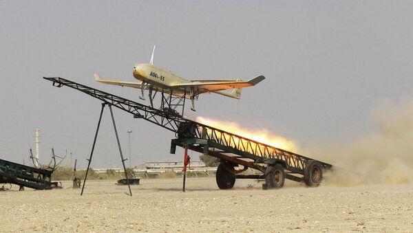 Лансирање иранског дрона на војним вежбама на југу Ирана - Sputnik Србија