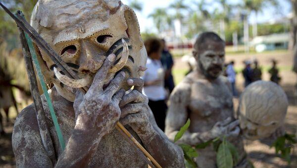Plemenska proslava u Port Morsbiju na Papua Novoj Gvineji - Sputnik Srbija