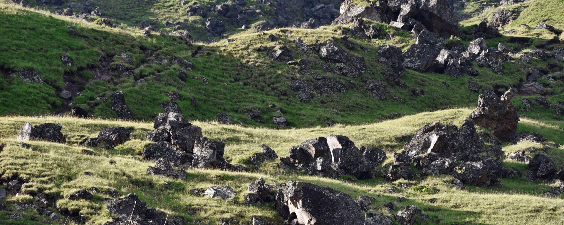 Палатки альпинистов лагеря Джилы-Су во время подъёма на Эльбрус в Кабардино-Балкарии - Sputnik Србија, 1920, 24.07.2021