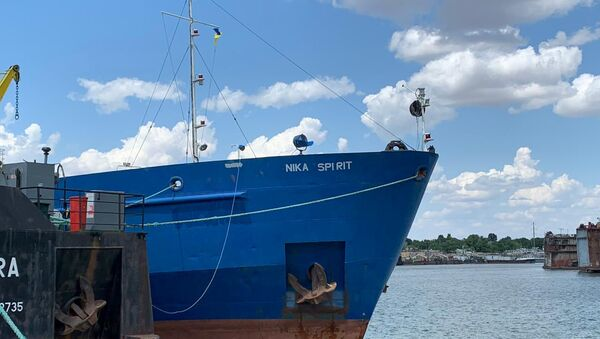 Руски танкер Ника спирит који је запленила Служба безбедности Украјине у луци Измаил - Sputnik Србија