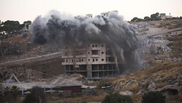 Izraelska vojska uništava palestinske kuće  - Sputnik Srbija