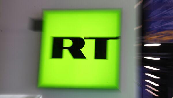 Лого телевизије РТ - Sputnik Србија