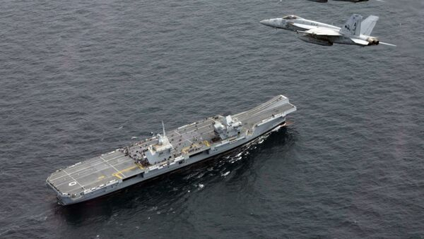 Nosač aviona HMS Queen Elizabeth - Sputnik Srbija