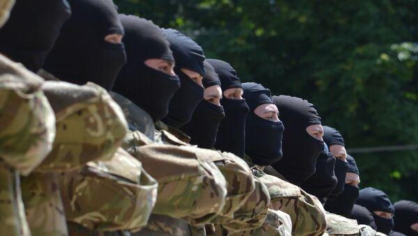 Припадници украјинског батаљона Азов полажу заклетву  - Sputnik Србија