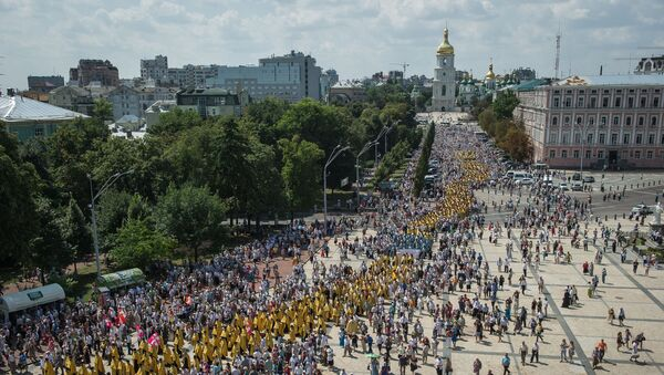Litija u Kijevu povodom godišnjice pokršavanja Kijevske Rusije - Sputnik Srbija
