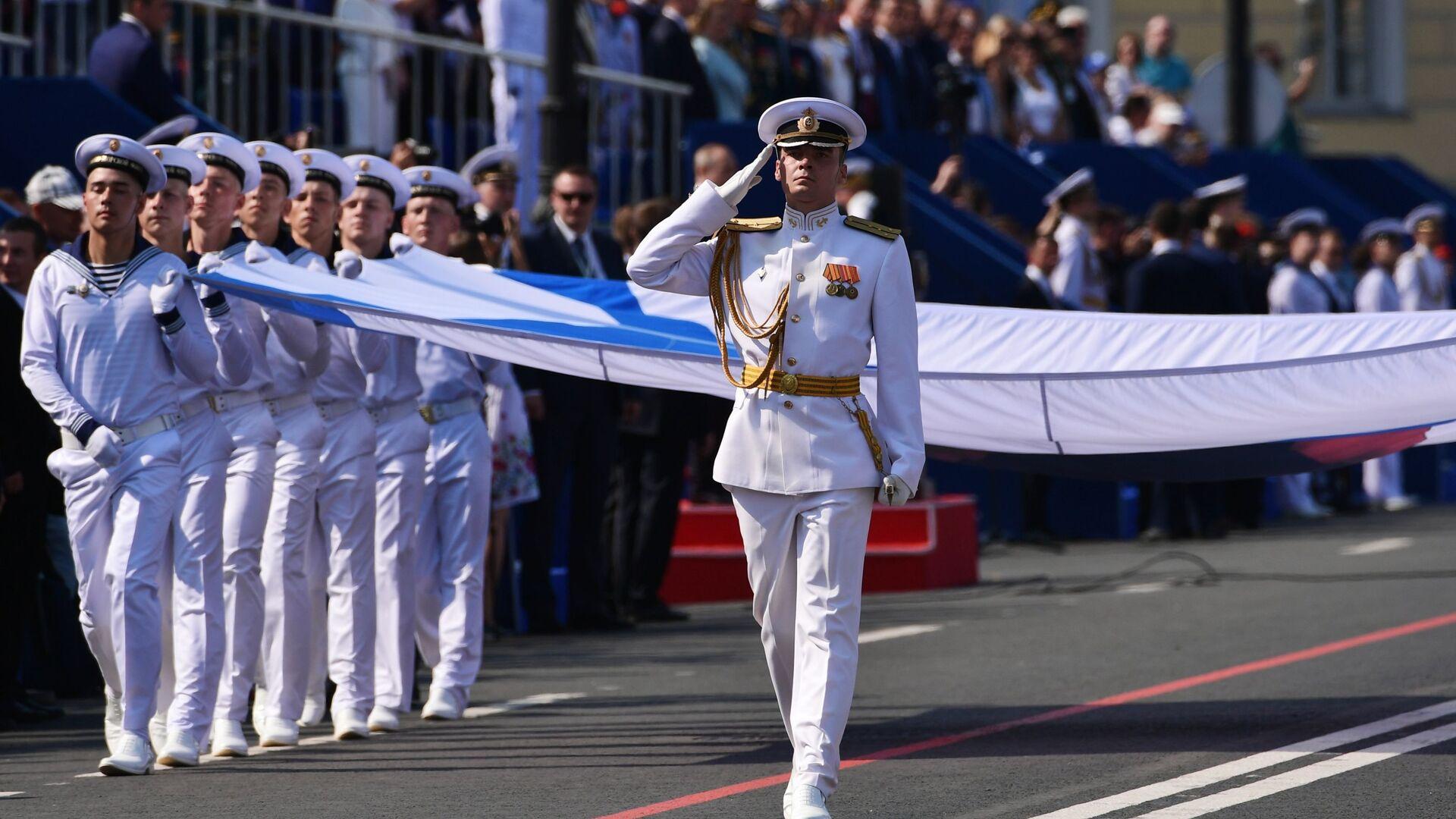 Vojna parada posvećena danu Ratne mornarice Rusije - Sputnik Srbija, 1920, 08.10.2021
