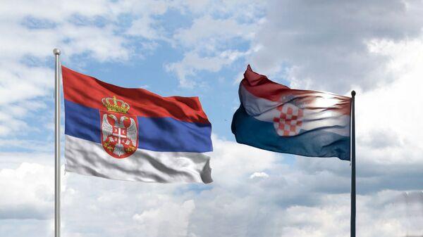 Заставе Србије и Хрватске - Sputnik Србија