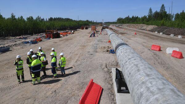 Radnici na izgradnji gasovoda Severni tok 2 u Lenjingradskoj oblasti - Sputnik Srbija