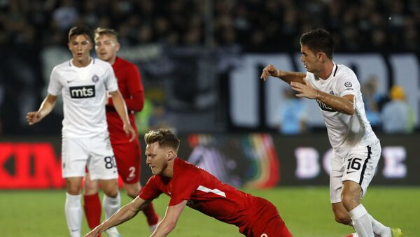 Фудбалска утакмица између Партизана и велшког клуба Конахс ки номадс - Sputnik Србија