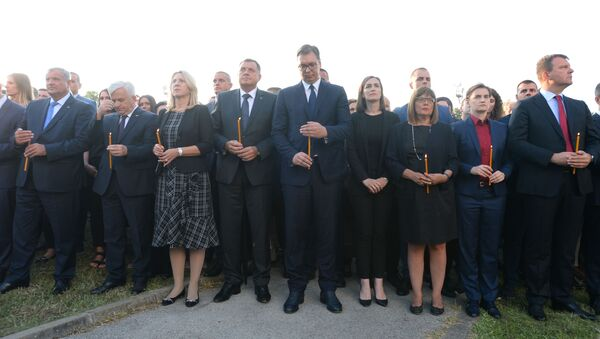 Državni vrh na obeležavanju godišnjice Oluje - Sputnik Srbija