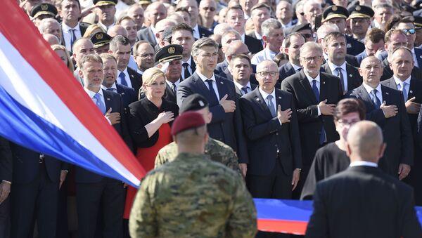 Хрватски државни врх на прослави Олује - Sputnik Србија