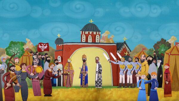Scena iz filma Tron Svetog Save. - Sputnik Srbija