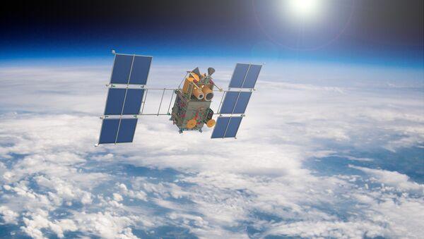 Уметничка визија руског сателита Канопус Б у Земљиној орбити - Sputnik Србија