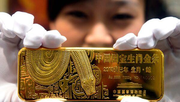 Prodaja zlatnih poluga u Pekingu - Sputnik Srbija