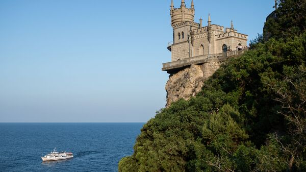 Zamak na obali Crnog mora u predgrađu Jalte na Krimu - Sputnik Srbija