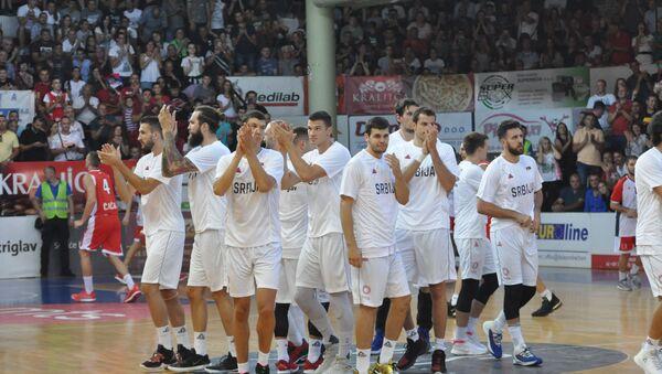Reprezentativci Srbije na pripremnoj utakmici u Čačku - Sputnik Srbija