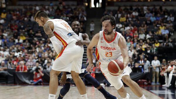 Španski reprezentativac Serhio Ljulj na pripremnoj utakmici protiv selekcije Amerike - Sputnik Srbija