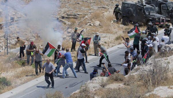 Сукоб Палестинаца и израелске граничне полиције  - Sputnik Србија