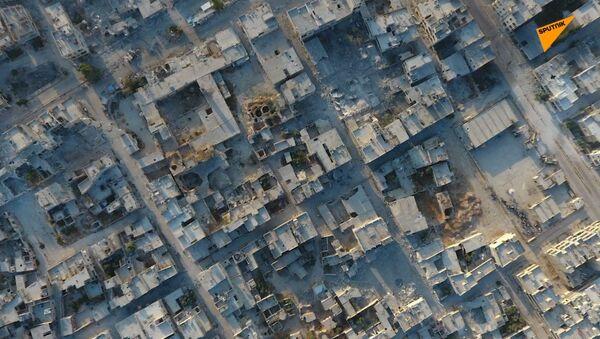 Pogled iz vazduha na sirijski Han Šejhun - Sputnik Srbija