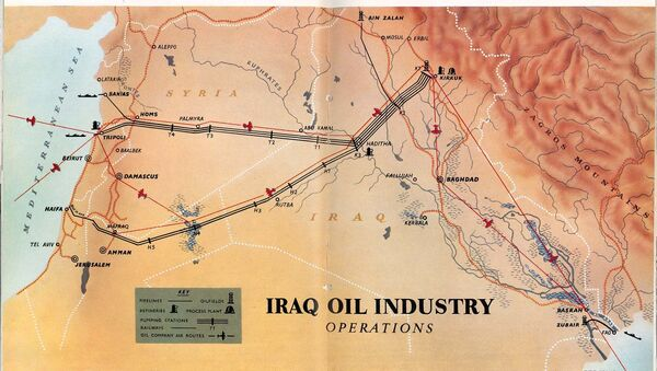 Мапа нафтовода преко Ирака и Сирије - Sputnik Србија