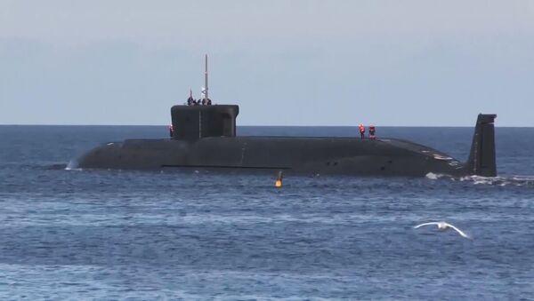 """Подморница """"Јуриј Долгоруки"""" са које је лансирана ракета """"Булава"""" - Sputnik Србија"""