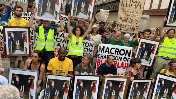 Protestna šetnja u francuskom Bajonu - Sputnik Srbija