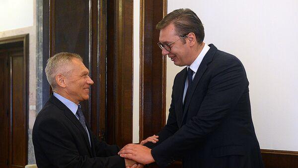 Aleksandar Vučić i Aleksandar Bocan-Harčenko - Sputnik Srbija