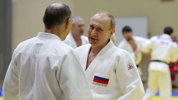 Vladimir Putin džudo sport - Sputnik Srbija