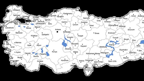 Мапа Турске - Sputnik Србија