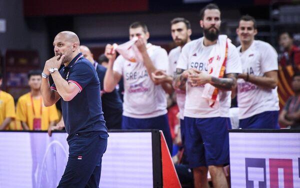 Selektor reprezentacije Srbije Aleksandar Đorđević tokom meča sa Angolom - Sputnik Srbija