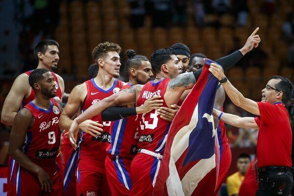 Кошаркаши Порторика прослављају победу над Ираном у трилер-завршници - Sputnik Србија