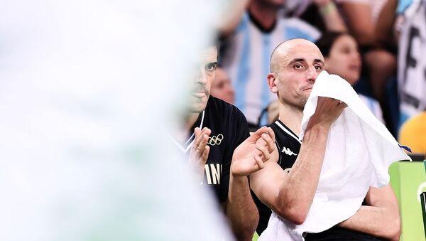 Ману Ђинобили на утакмици против САД на ОИ у Рио де Жанеиру - Sputnik Србија