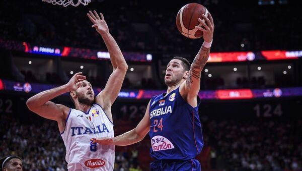 Stefan Jović na utakmici protiv Italije - Sputnik Srbija