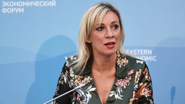 Portparolka Ministarstva spoljnih poslova Rusije Marija Zaharova na Istočnom ekonomskom forumu u Vladivostoku - Sputnik Srbija